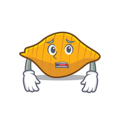 Afraid conchiglie pasta mascot cartoon vector