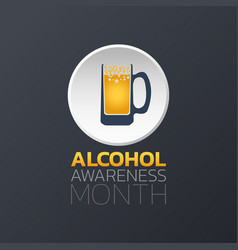 Alcohol awareness month icon design infographic vector