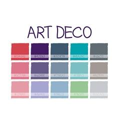 Art Deco Color Tone vector