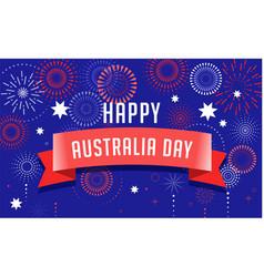 Australia day fireworks and celebration poster vector