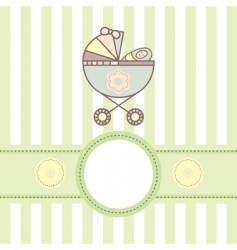 baby card with cradle vector image