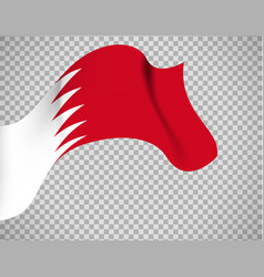 bahrain flag on transparent background vector image