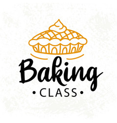 baking class logotype cooking course badge label vector image