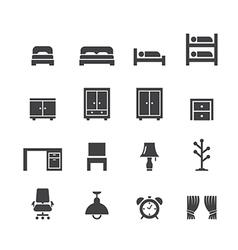 Bed room icon vector