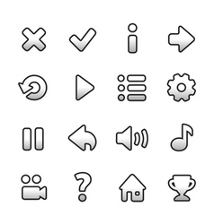 Black and white game icons vector