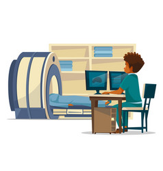 Brain mri tomography cartoon vector