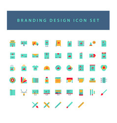 branding and design icon set with colorful modern vector image