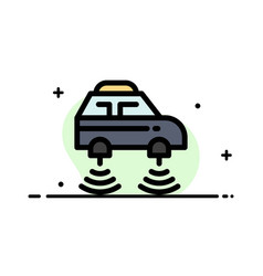 Car electric network smart wifi business flat vector