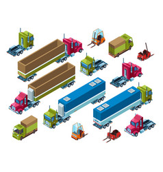 Cargo freight transport isometric vector