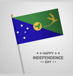 Christmas island independence day typographic vector
