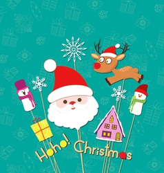 Christmas props card vector