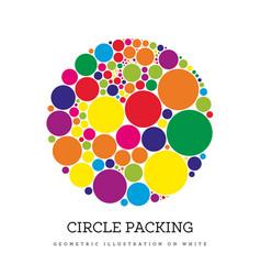 Circle packing geometric vector