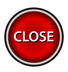 Close icon red round button vector