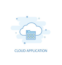 cloud application line concept simple line icon vector image