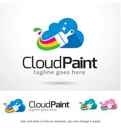 Cloud paint logo template vector