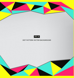 colorful low polygon pattern background vector image