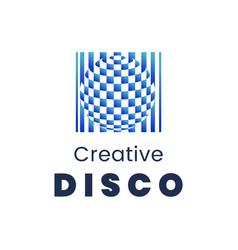 Creative disco logo template modern element for vector