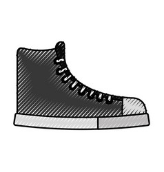 Cute scribble boot cartoon vector