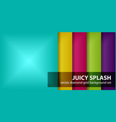 Diamond pattern set juicy splash seamless vector