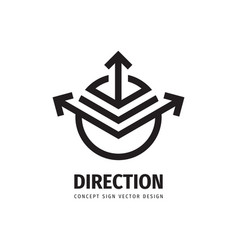 direction arrow concept logo design development vector image