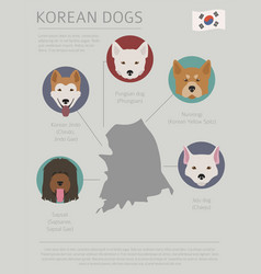 Dogs by country of origin korean dog breeds vector