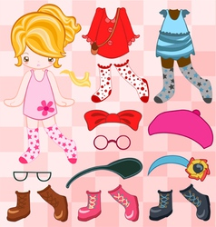 Dress up cute look vector image