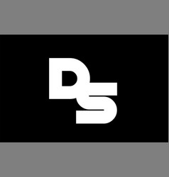 Ds d s black white bold joint letter logo vector