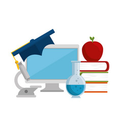Education easy learning flat icons vector