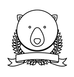 Emblem bear hunter city icon vector