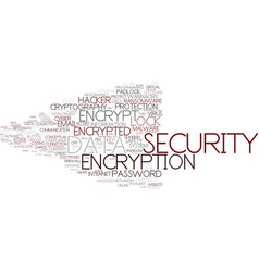 encrypt word cloud concept vector image