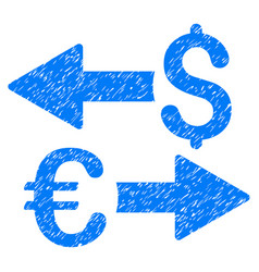 euro dollar transactions grunge icon vector image