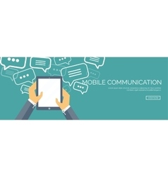Flat communication background vector