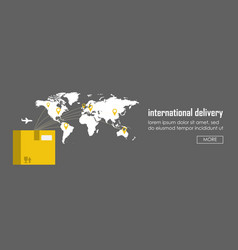 flat logistics concept of shipping and delivery vector image