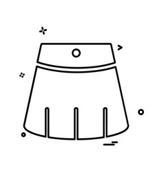 frock icon design vector image