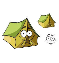 Fun cartoon tent vector image