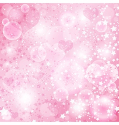 Gentle pink valentine background vector