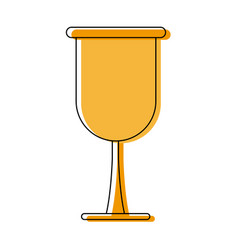 Golden cup drink beverage liquid icon vector