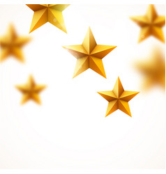 golden star background success concept vector image