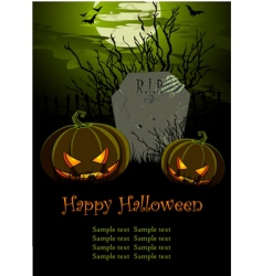 Halloween illustration vector image