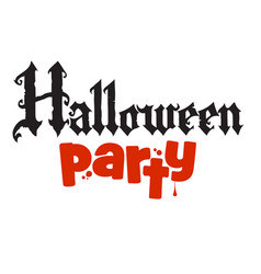 halloween party calligraphy in gothic style vector image