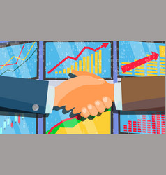 handshake concept business people vector image