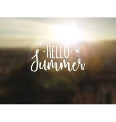 Hello Summer background Summer travel vocation vector image