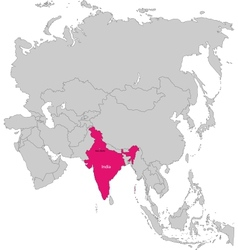 India map vector image