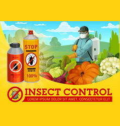 Insect and pest control agriculture vector