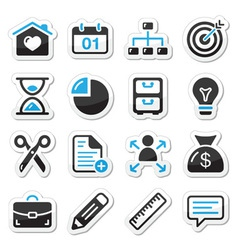 Internet web icons as labels vector