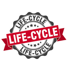 life-cycle stamp sign seal vector image