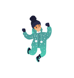 little boy in winter vector image