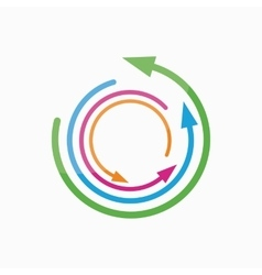 Logo design element Arrow pointer circle vector