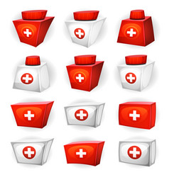 Medicine box icons for ui game vector