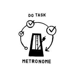 Metronome icon vector